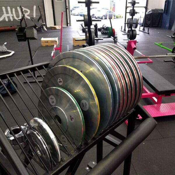 255kg Calibrated Powerlifting Plate Set Package UK