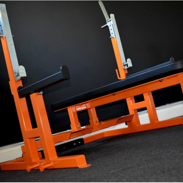 Powerlifting Combo Rack & Bench Press designed for Strength Training & Commercial Gym Use