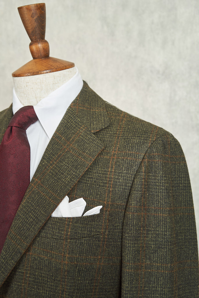 Ring Jacket AMJ03 Scotch Flannel Green Over Check Suit