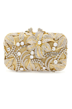 LILY BLOOM CLUTCH-SILVER GOLD