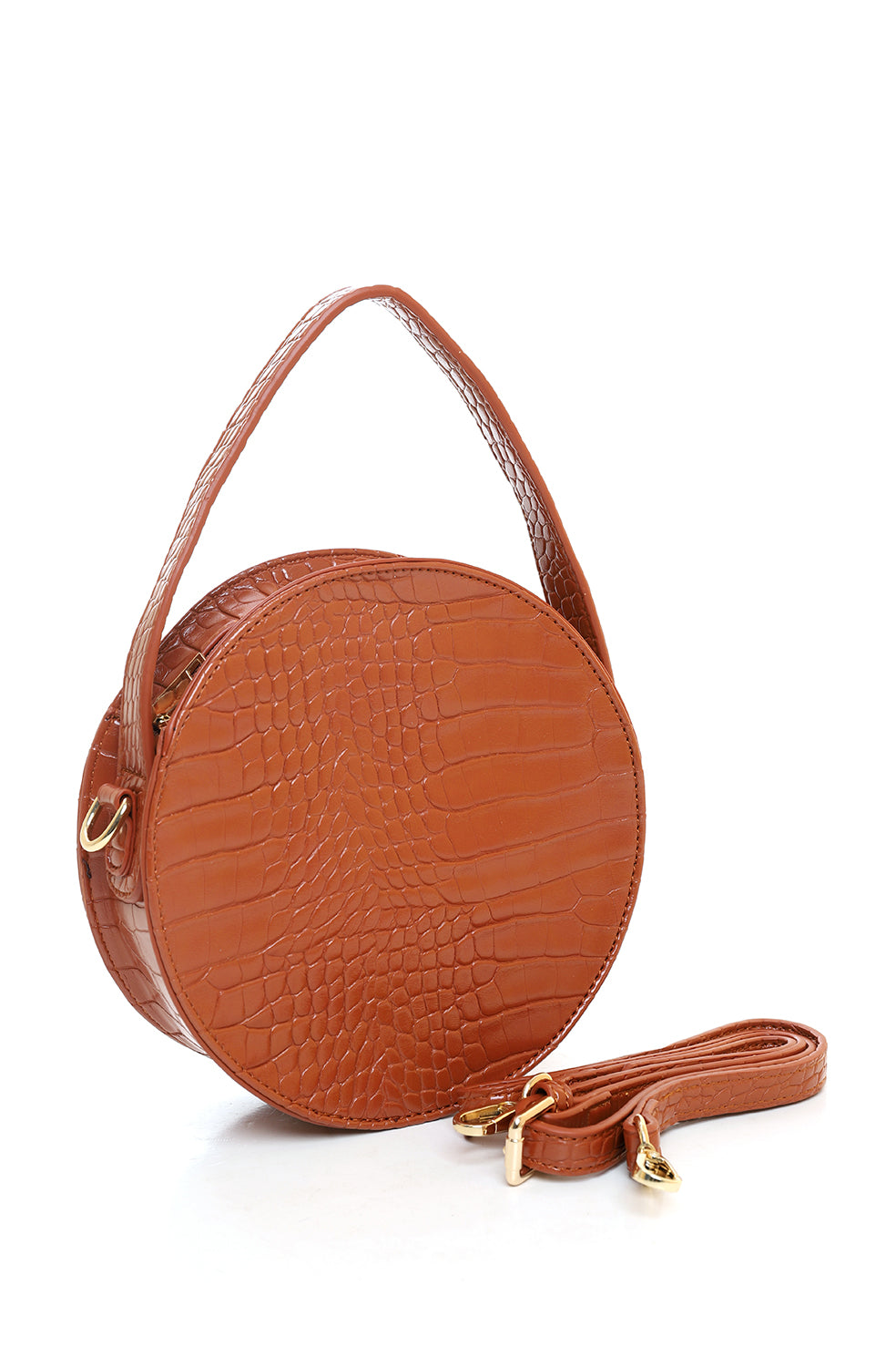 GLOBE PURSE -BROWN