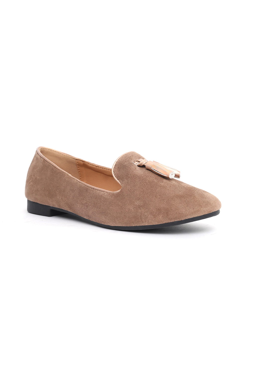 SUEDE LOAFERS-KHAKI
