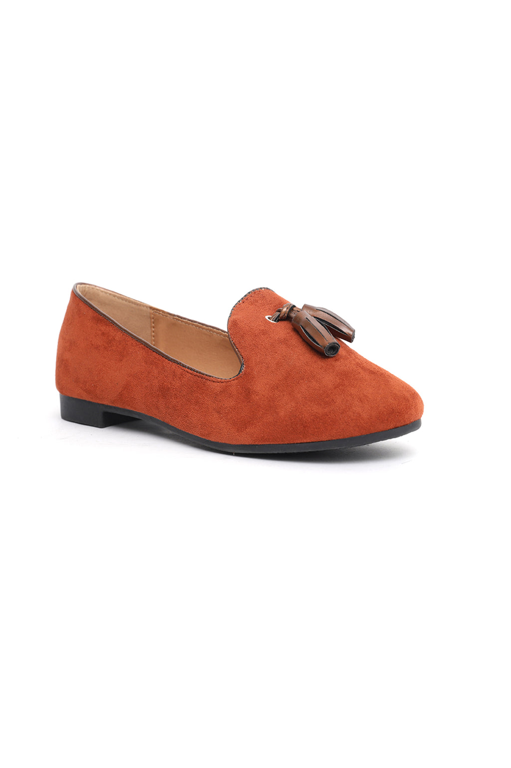 SUEDE LOAFERS-RUST