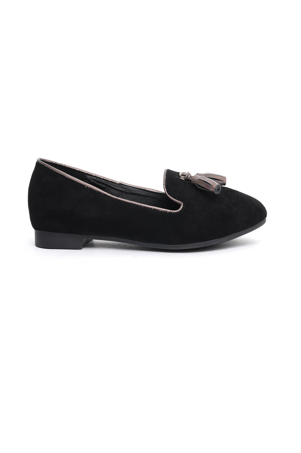 SUEDE LOAFERS-BLACK