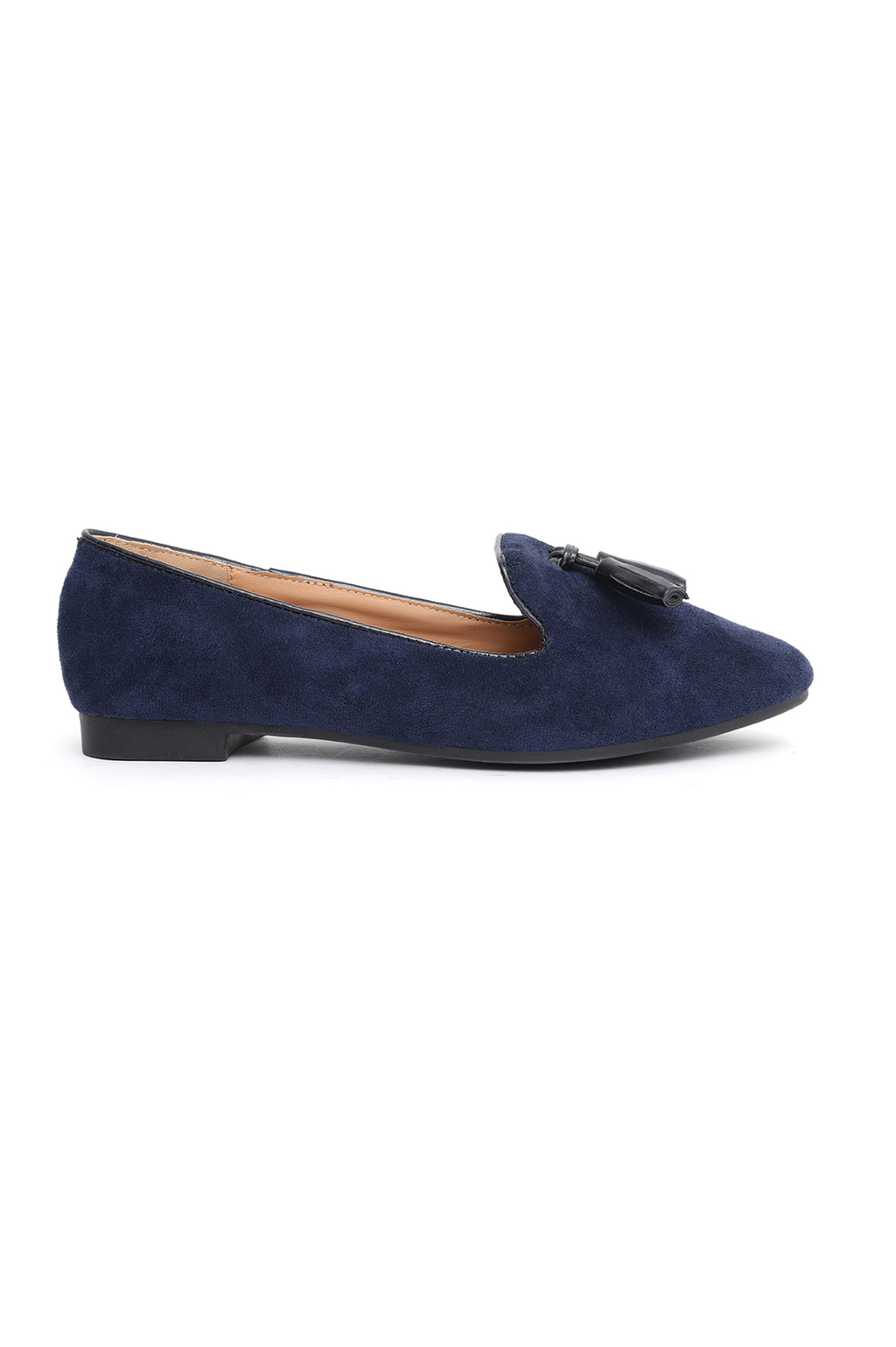 SUEDE LOAFERS-NAVY