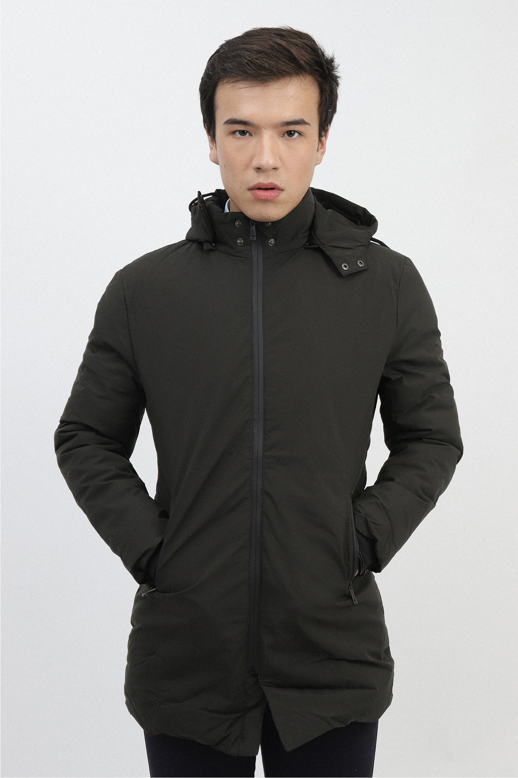 HOODED PARKA-GREEN