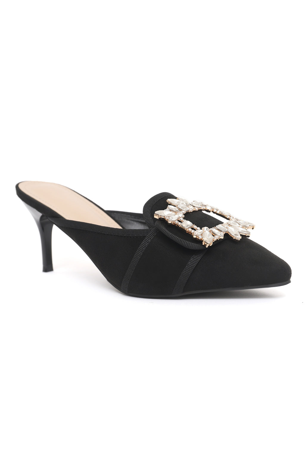 BROCHE KITTEN HEELS-BLACK