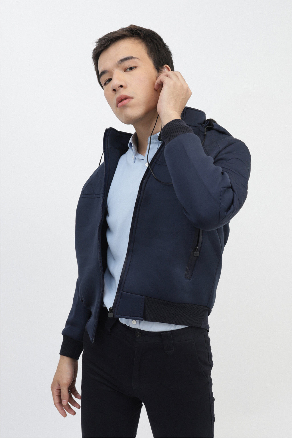 QUILTED JACKET-NAVY