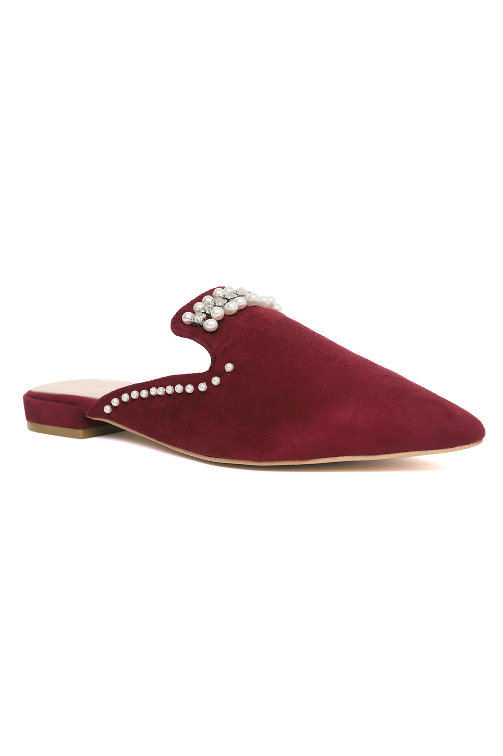 PEARLINE MULES -WINE