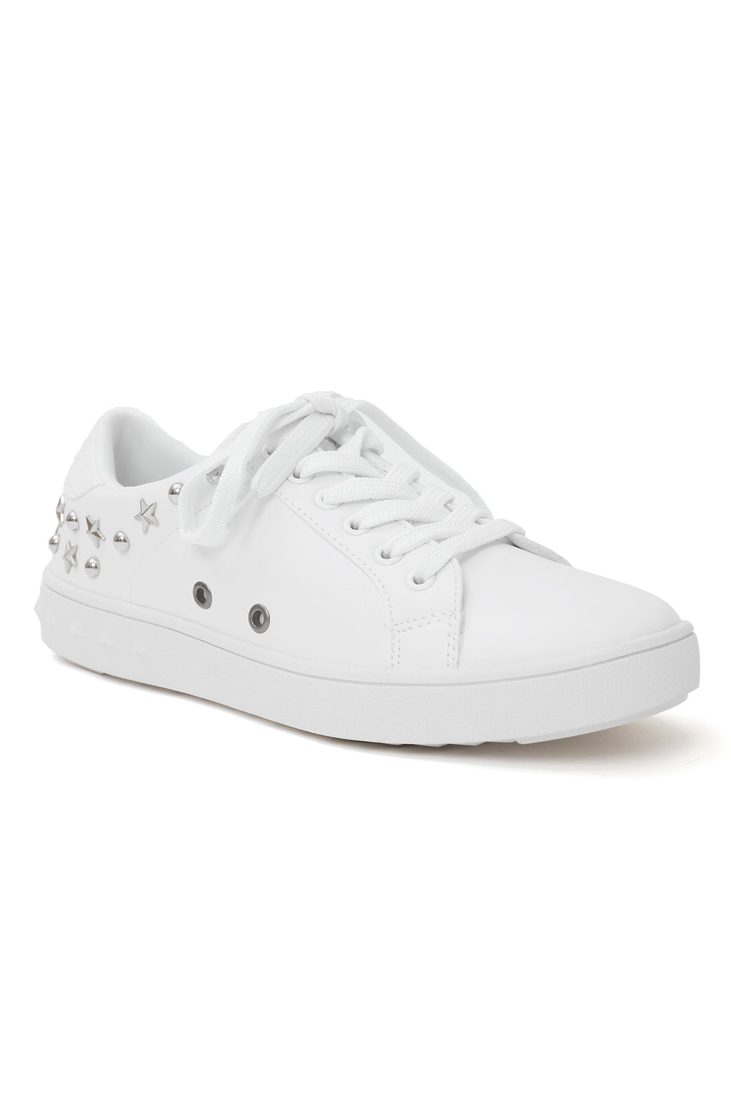 STAR STUDDED SNEAKERS-WHITE