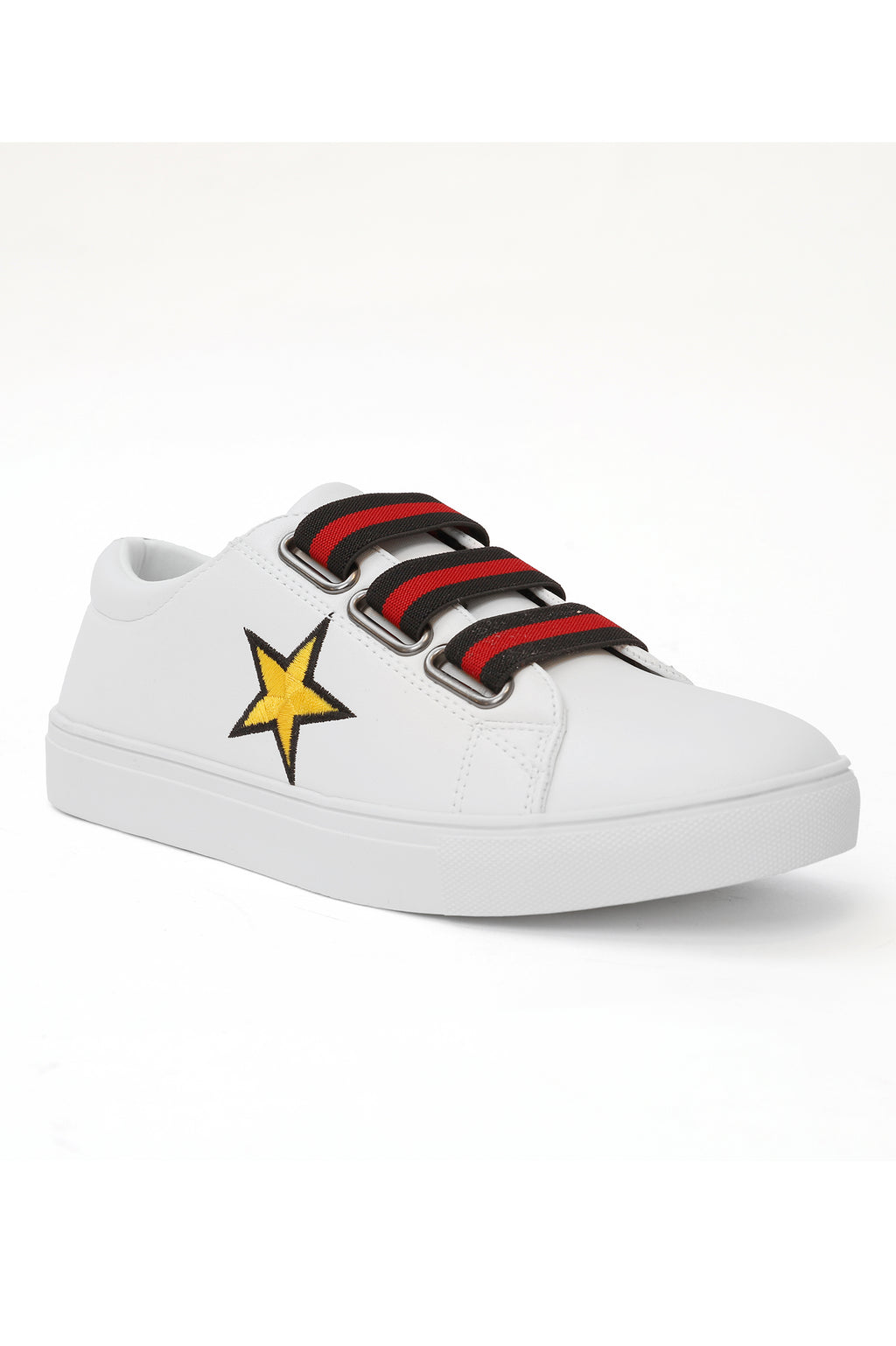 TRIPLE BAND SNEAKERS-WHITE