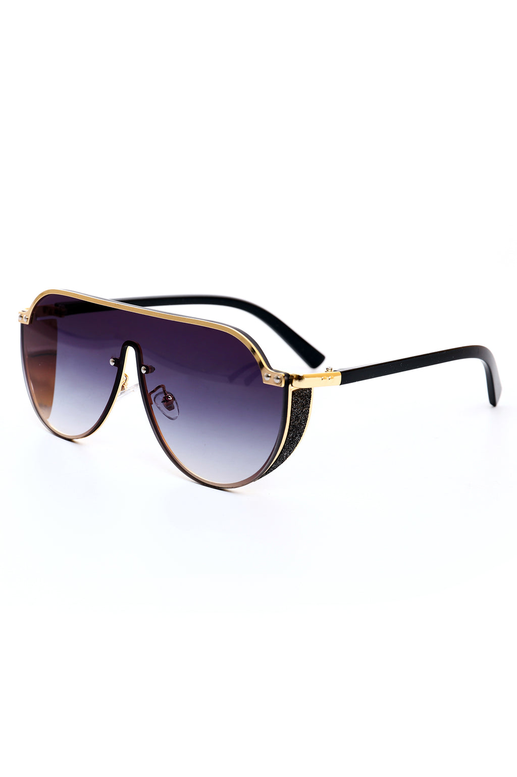 GLITZY SHADES -BLACK/GOLD