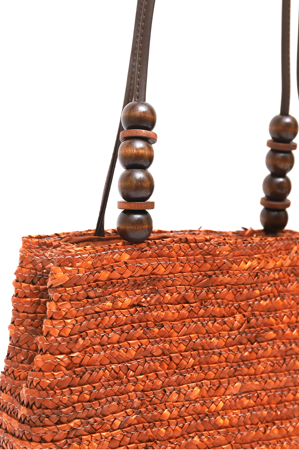 JUTE PURSE -BROWN