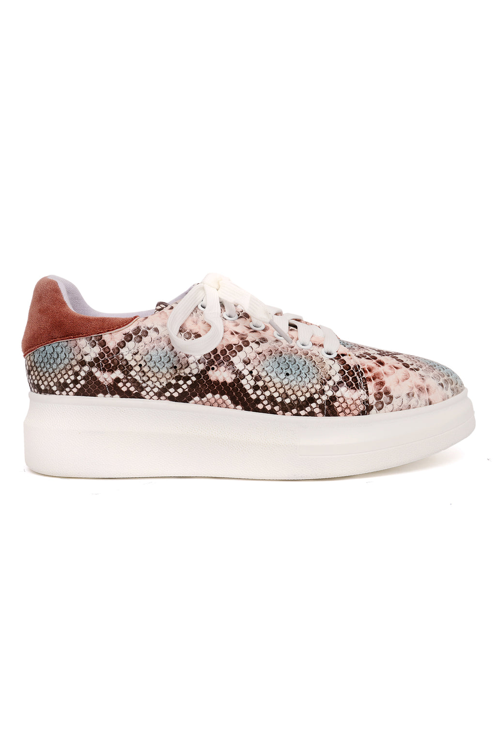 SNAKESKIN TRAINERS -PINK