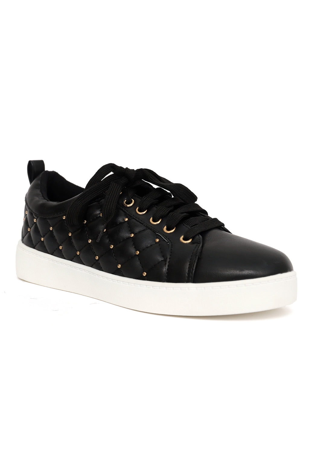 QUILTED SNEAKERS -BLACK