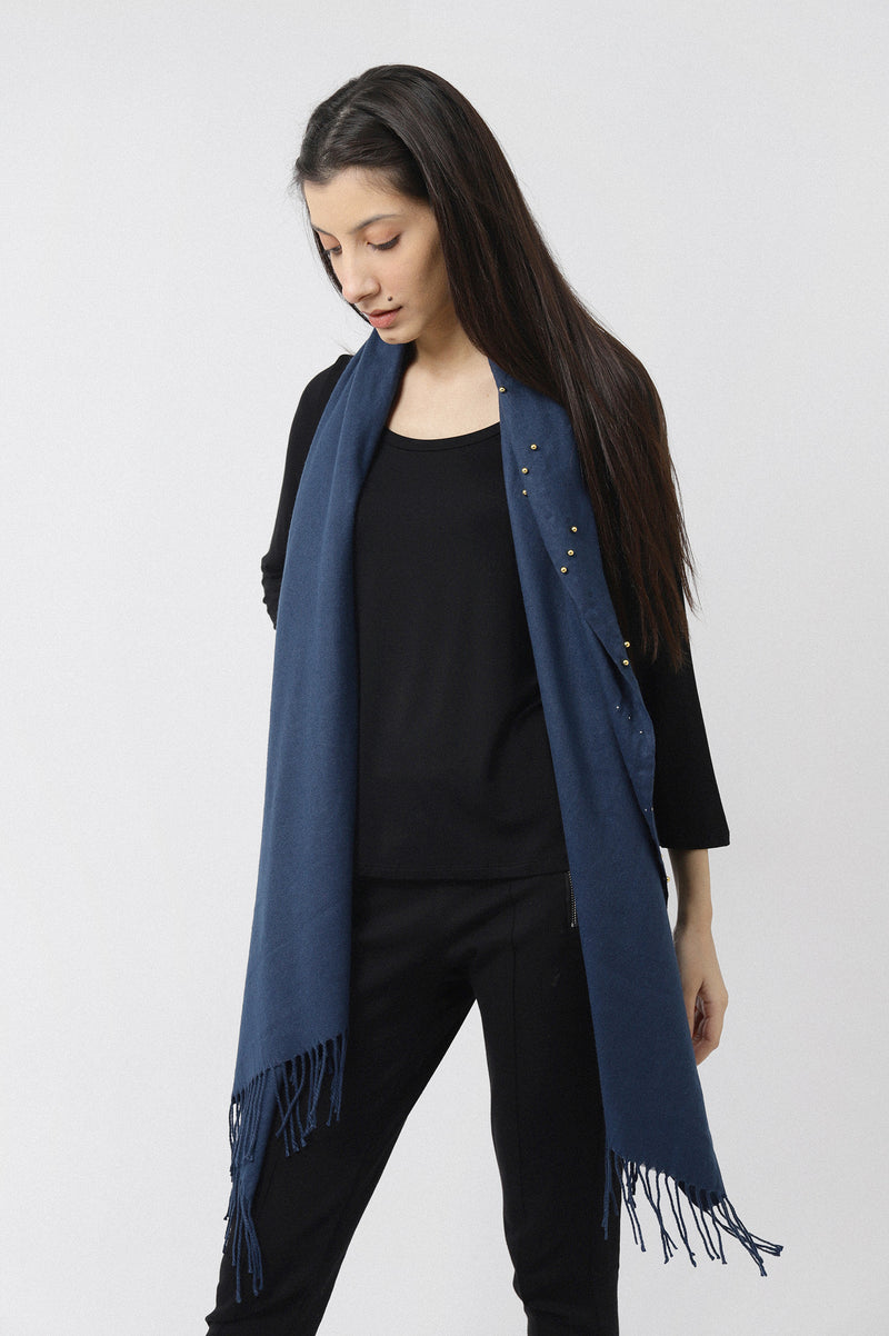 BEADED WRAP-BLUE