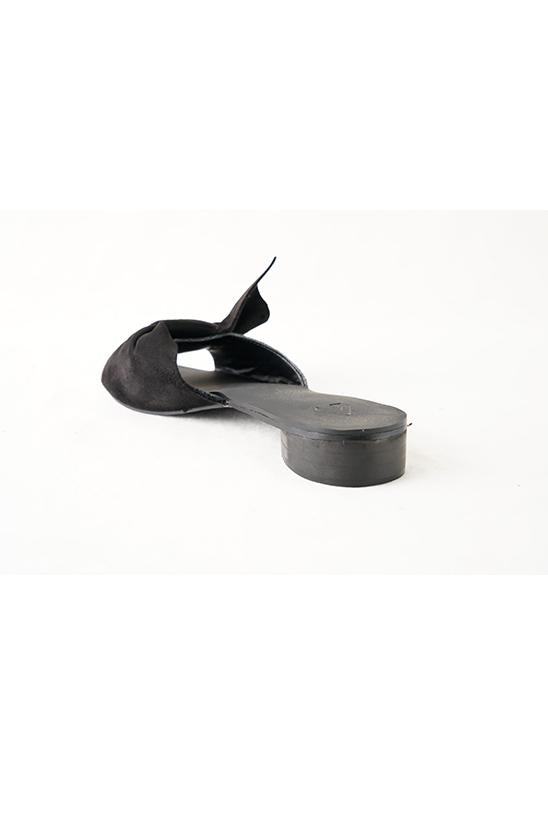 BOW SLIDES-BLACK