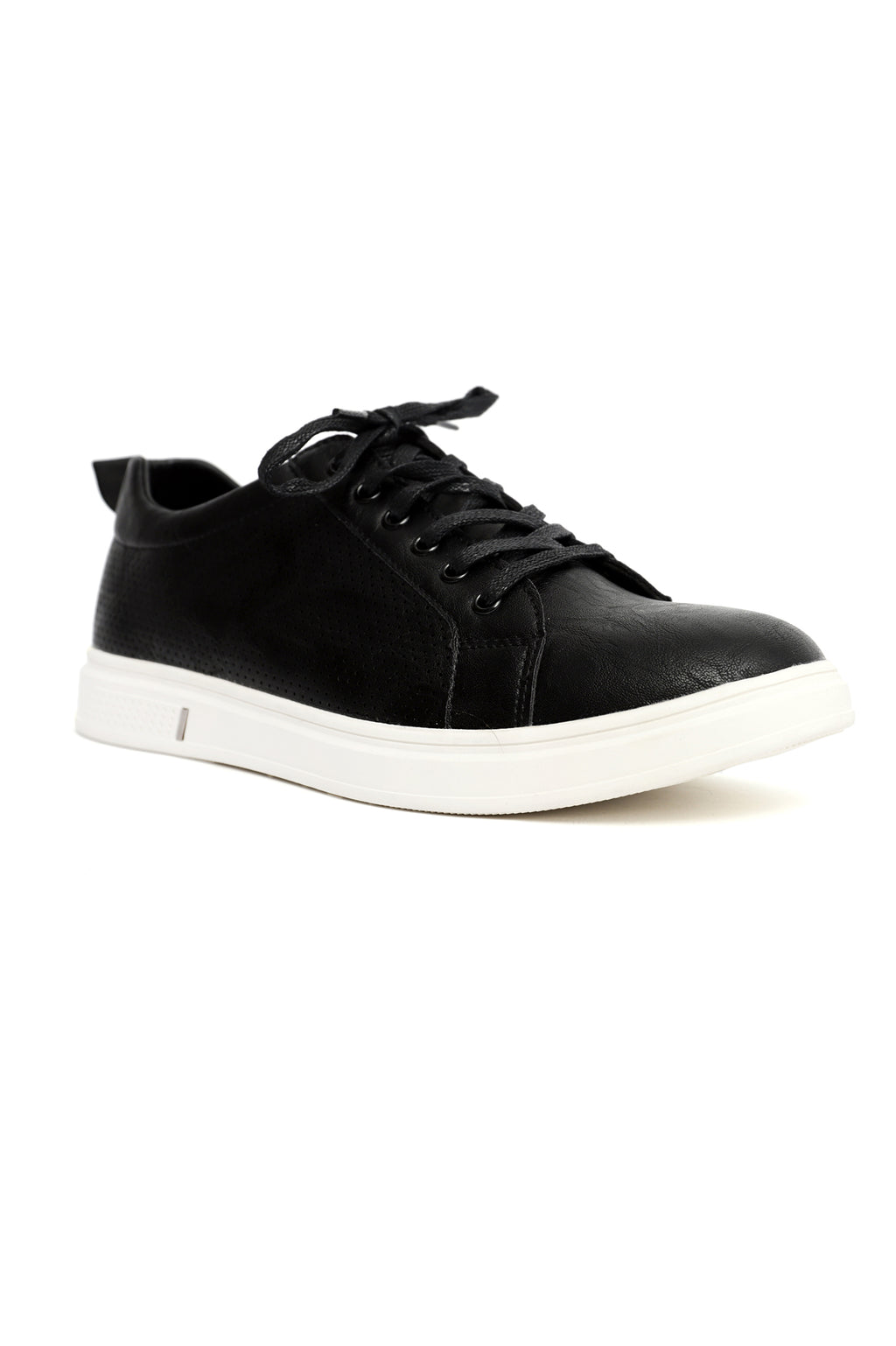 PERFORATED SNEAKERS-BLACK