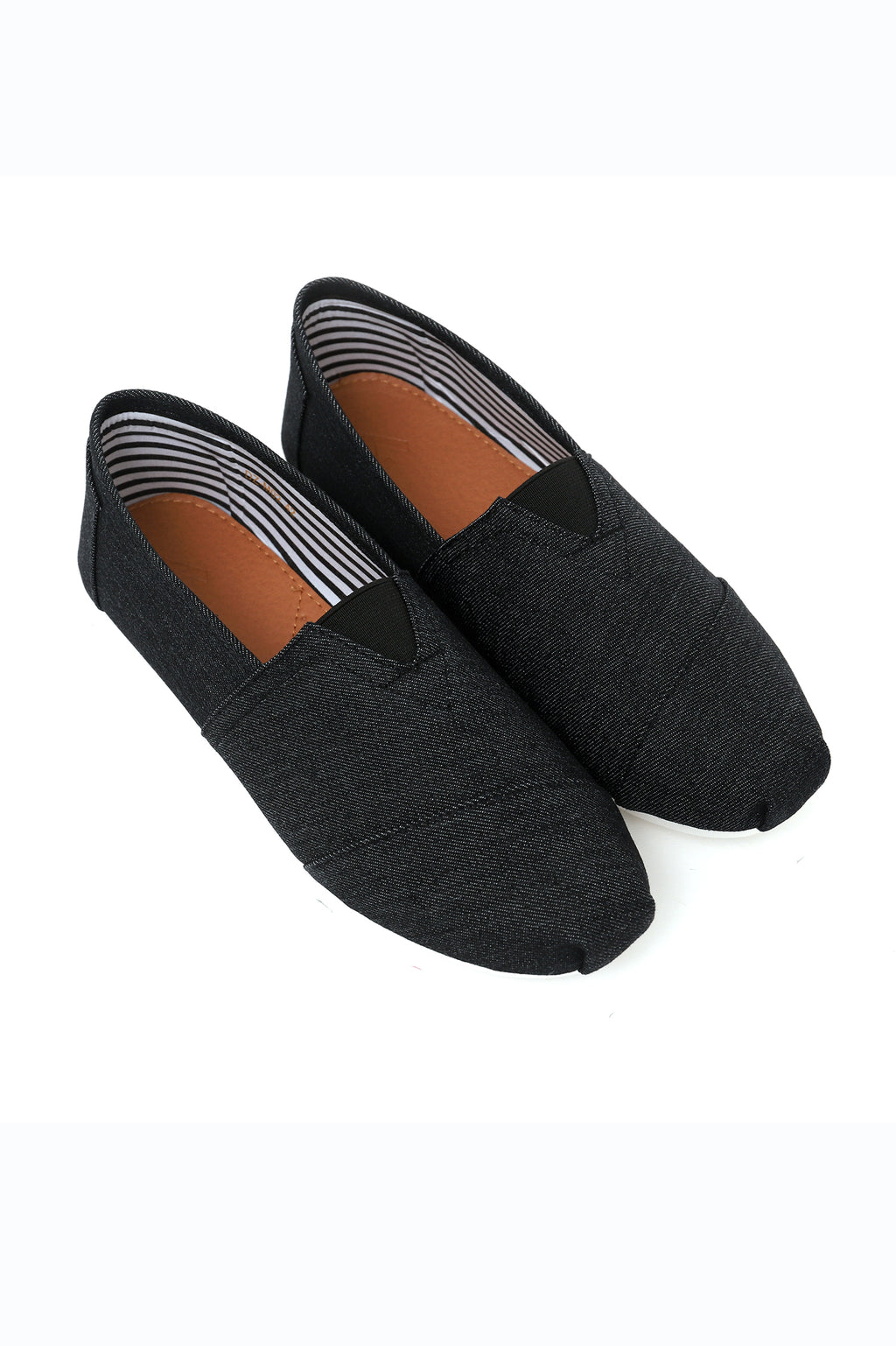 DENIM SLIP ONS-BLACK