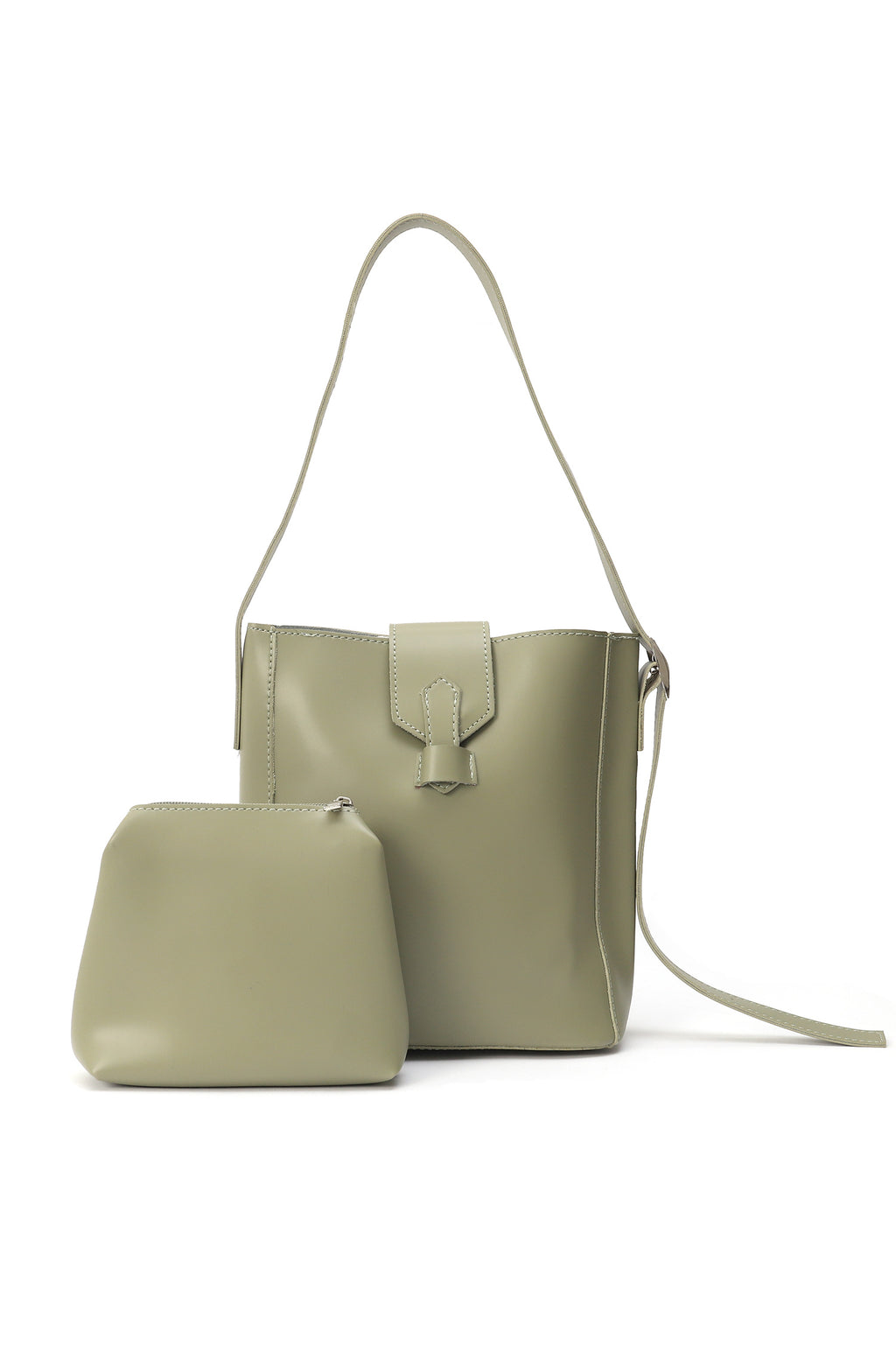 LEATHER BAG-GREEN