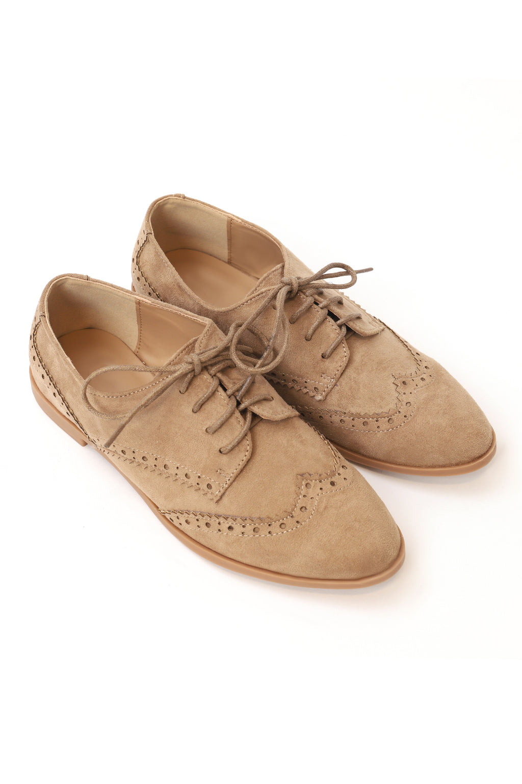 BROGUE LACE UPS-BEIGE
