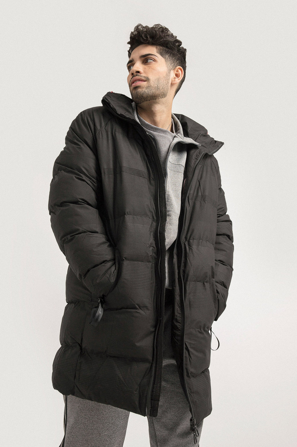 OUTERWEAR PARKA -BLACK