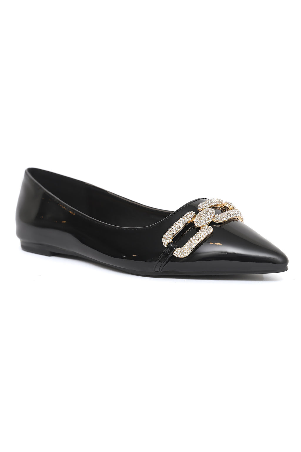 CRYSTAL LINK PUMPS-BLACK