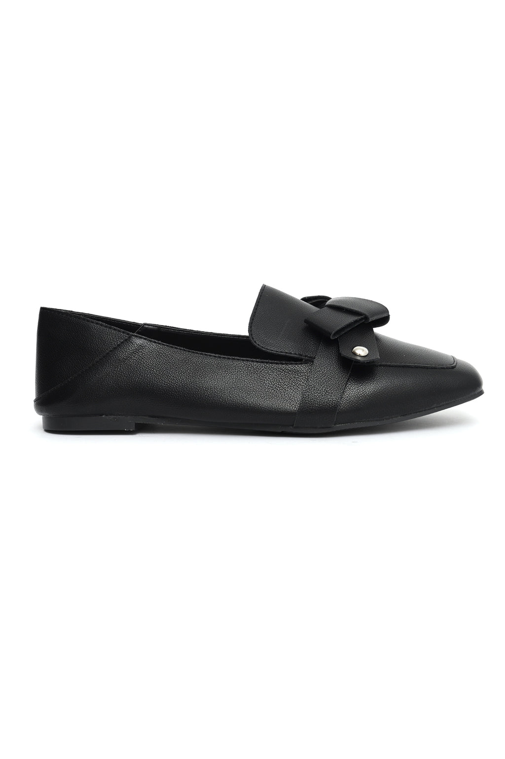 KNOT BOW FLATS-BLACK