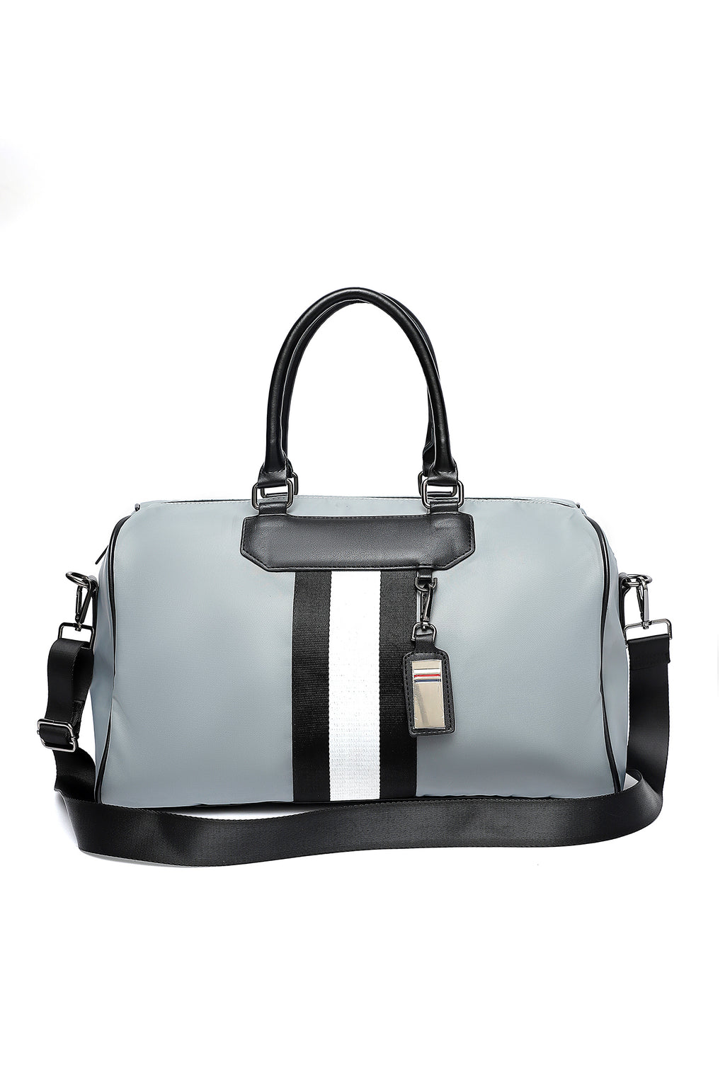 STRIPPED SUFFLE BAG-LIGHT-GREY