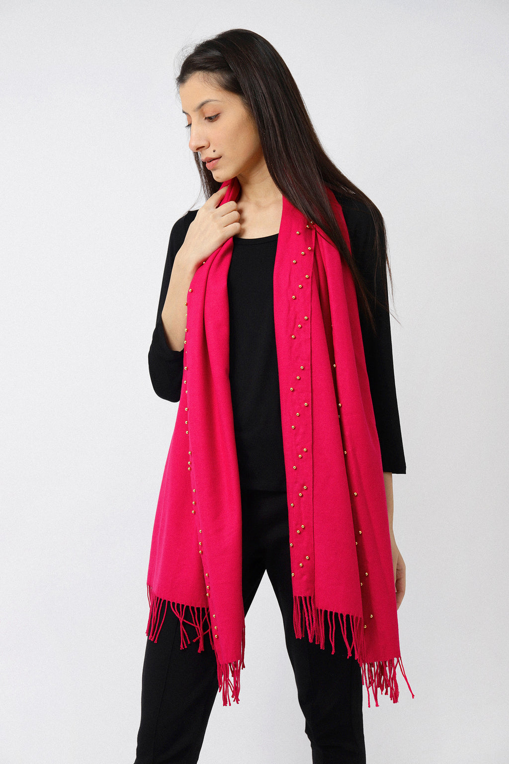 BEADED WRAP-PINK
