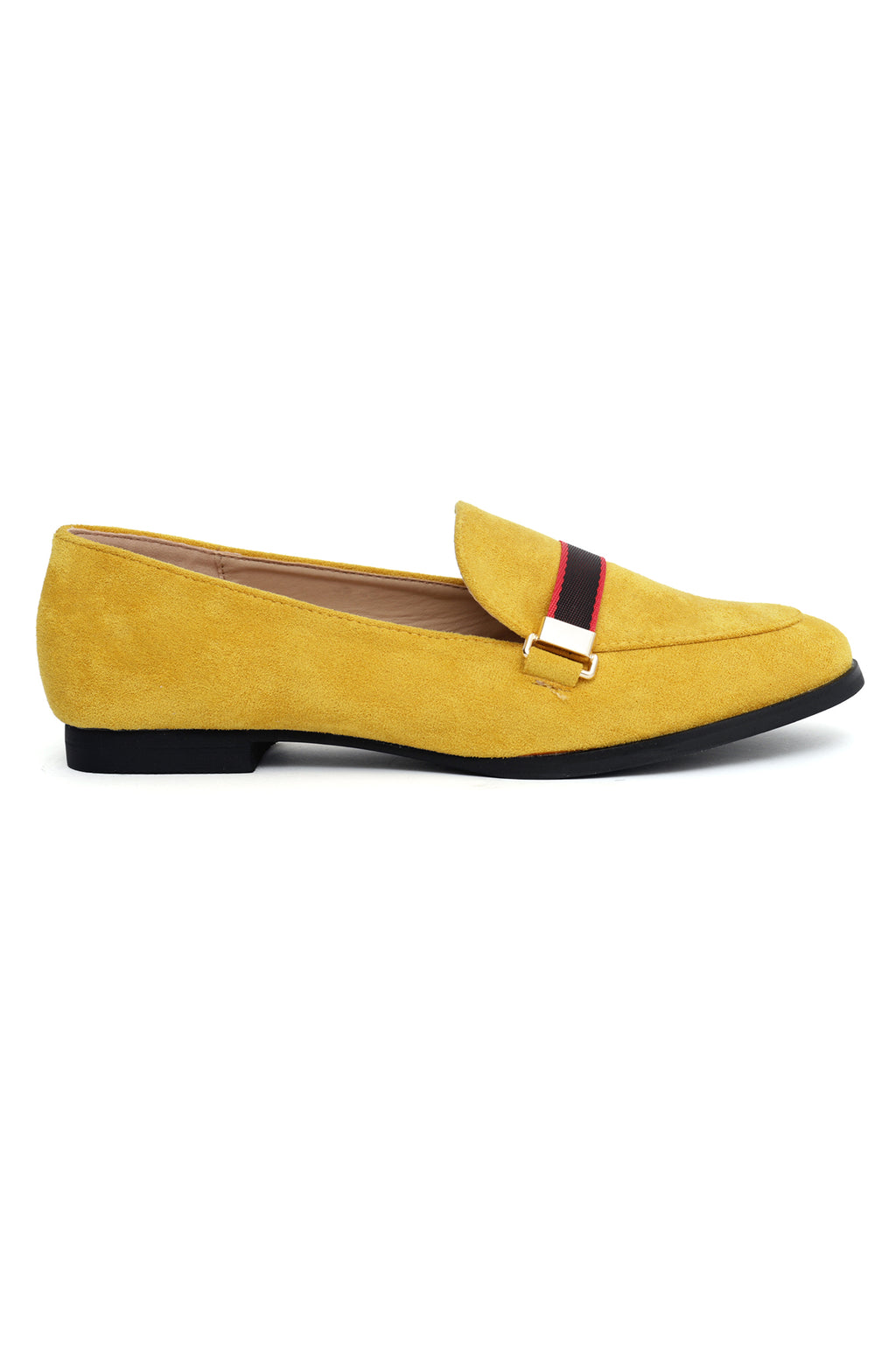 TAPE LOAFERS-MUSTARD