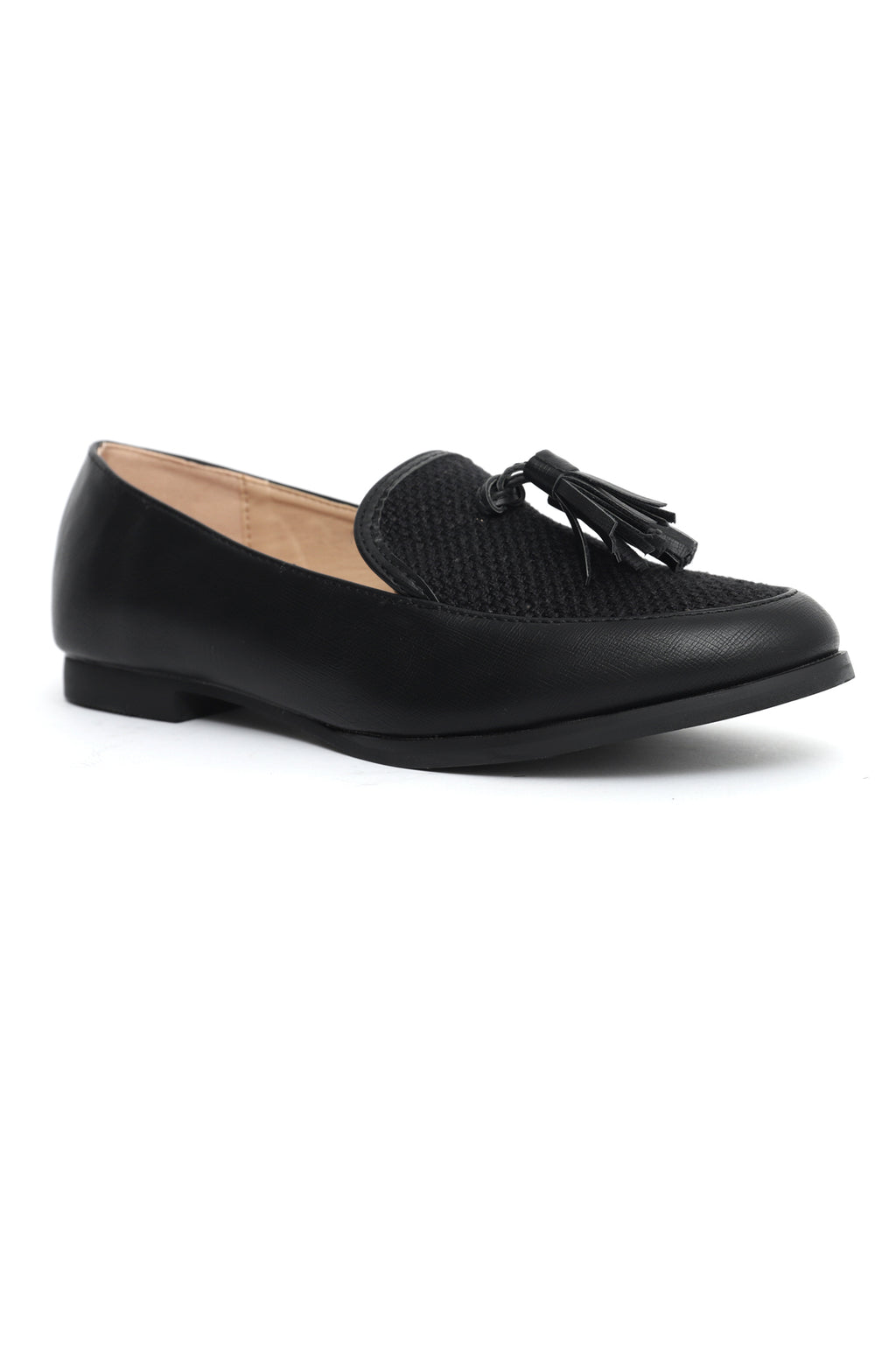 WEAVE LOAFERS-BLACK