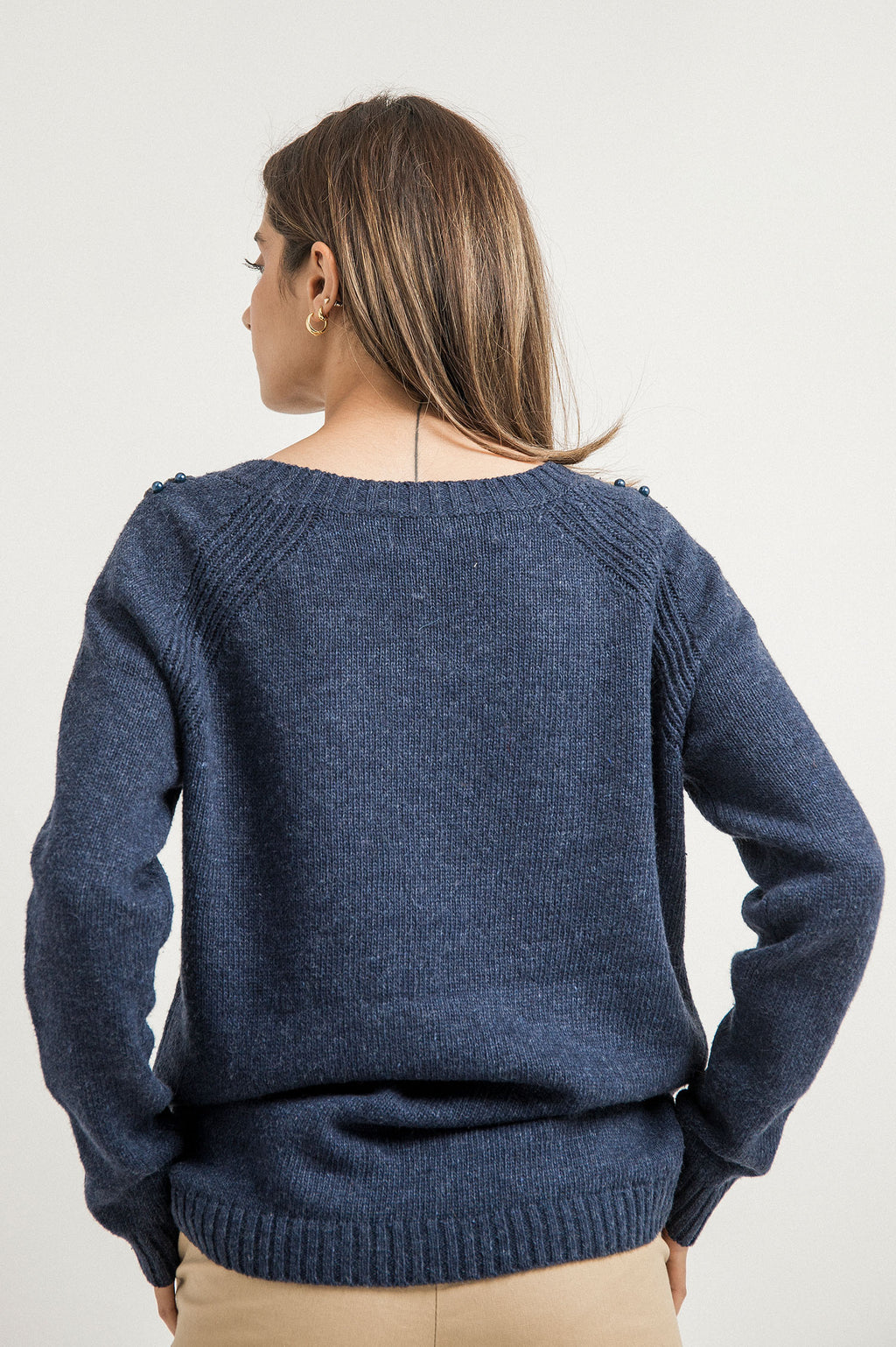 CRYSTAL SWEATER-NAVY