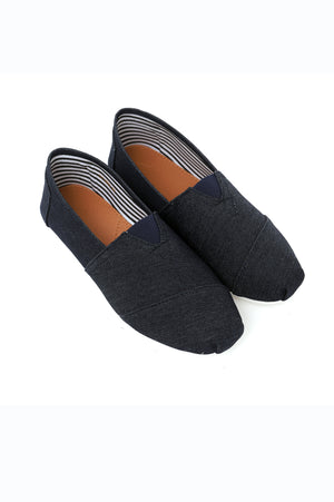 DENIM SLIP ONS-BLUE