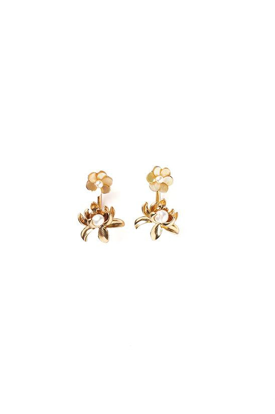 PEARL STUDS-GOLD