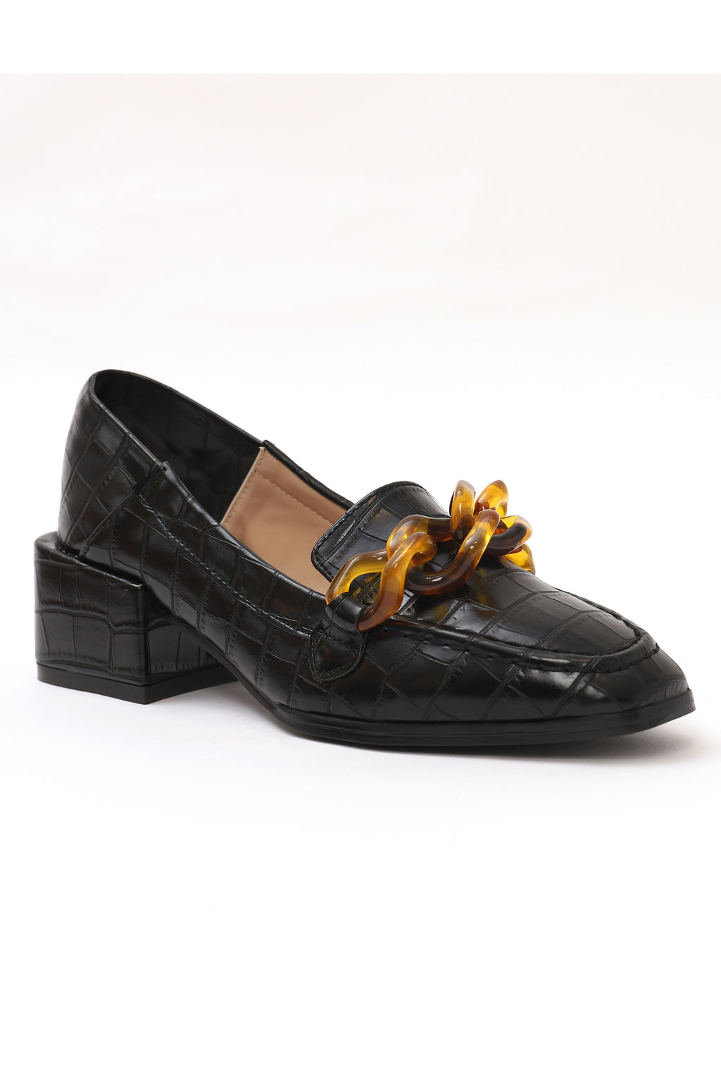CROCSKIN COURTS-BLACK