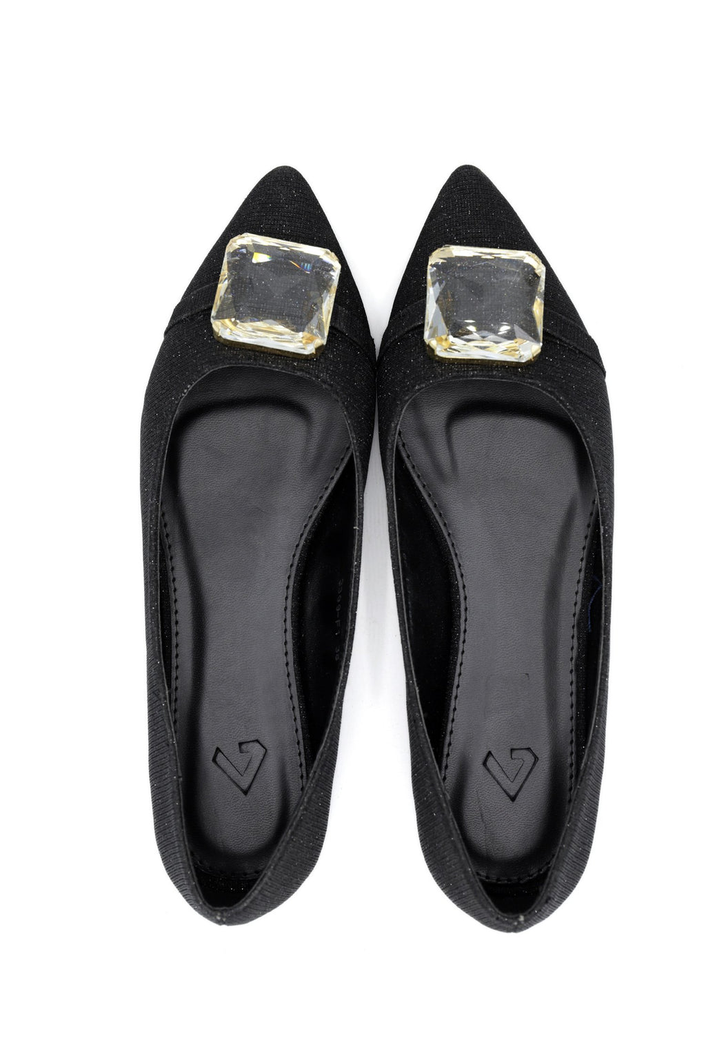 SHIMMER PUMPS-BLACK