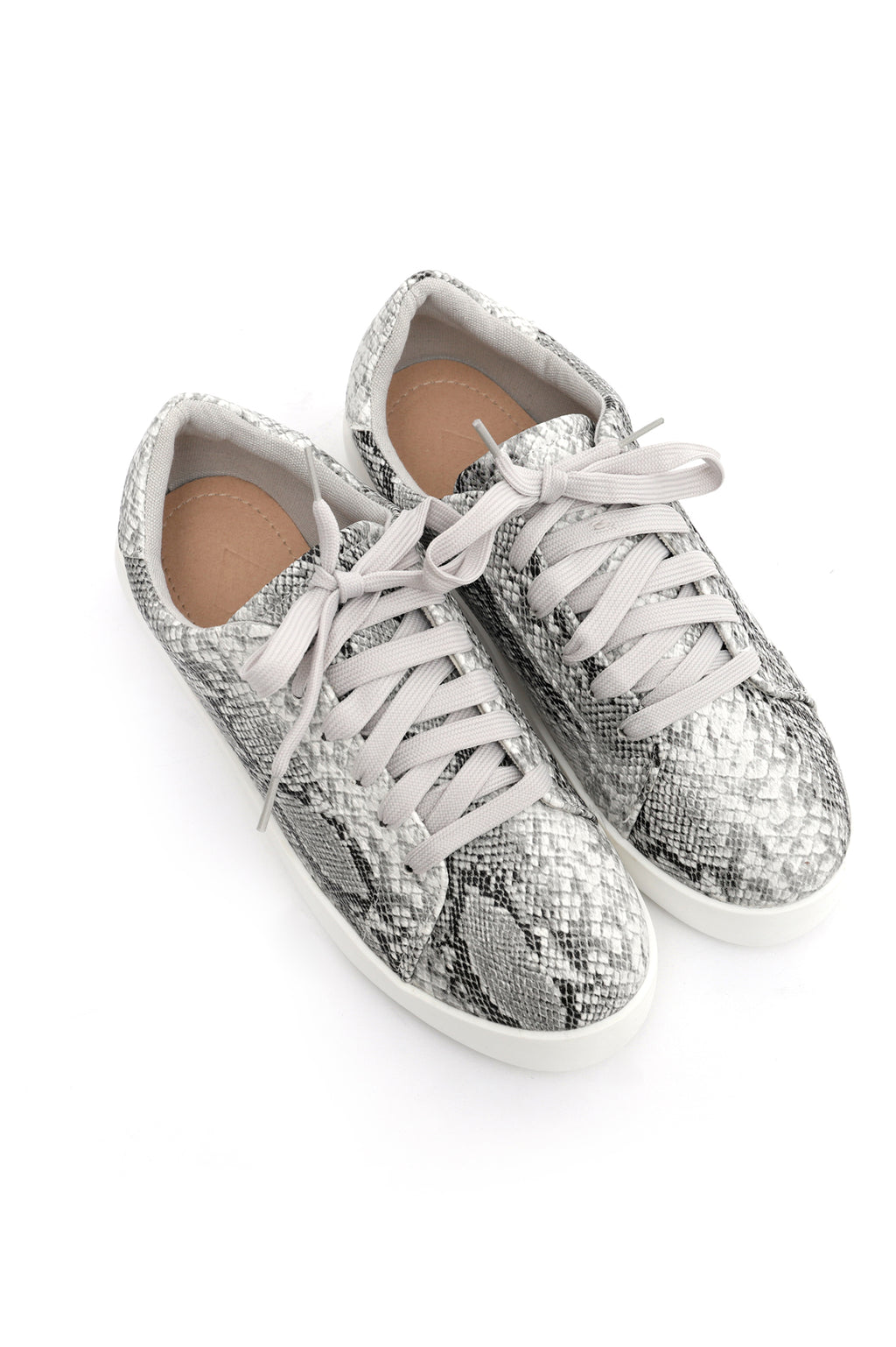 SNAKESKIN SNEAKERS-GREY