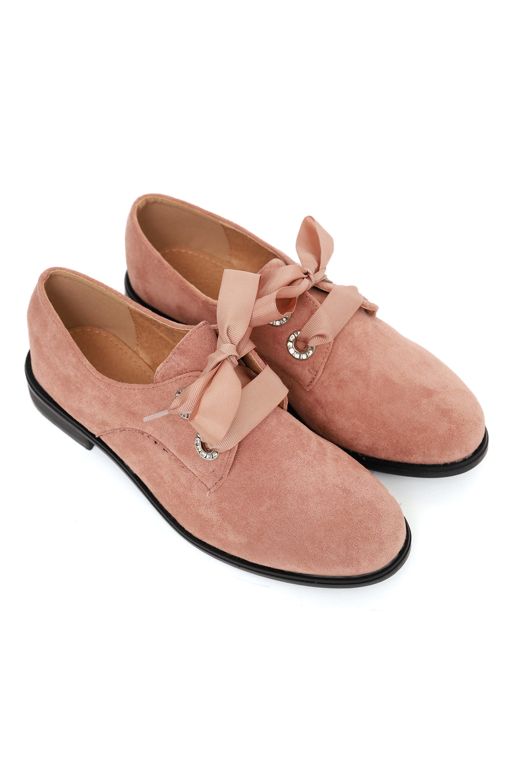 LACE UP FLATS -PINK