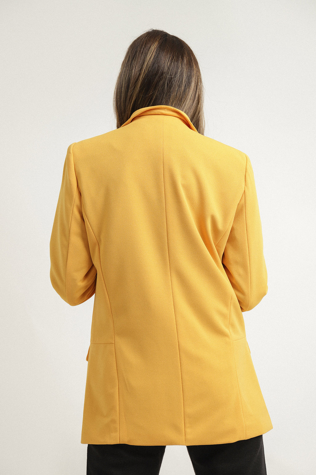BASIC BLAZER-YELLOW
