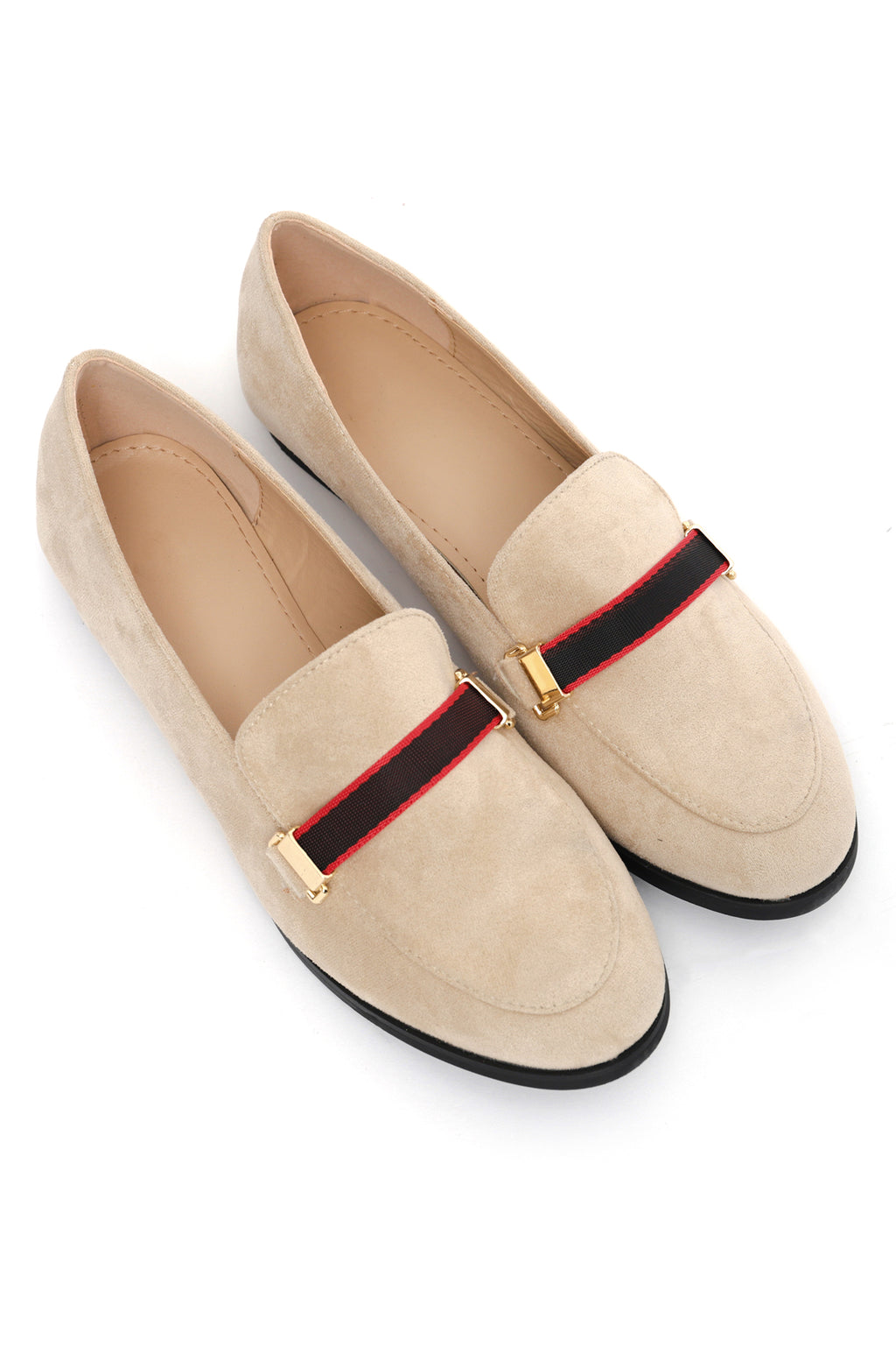 TAPE LOAFERS-BEIGE