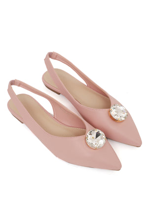 ENCRUSTED SLINGBACKS-PINK