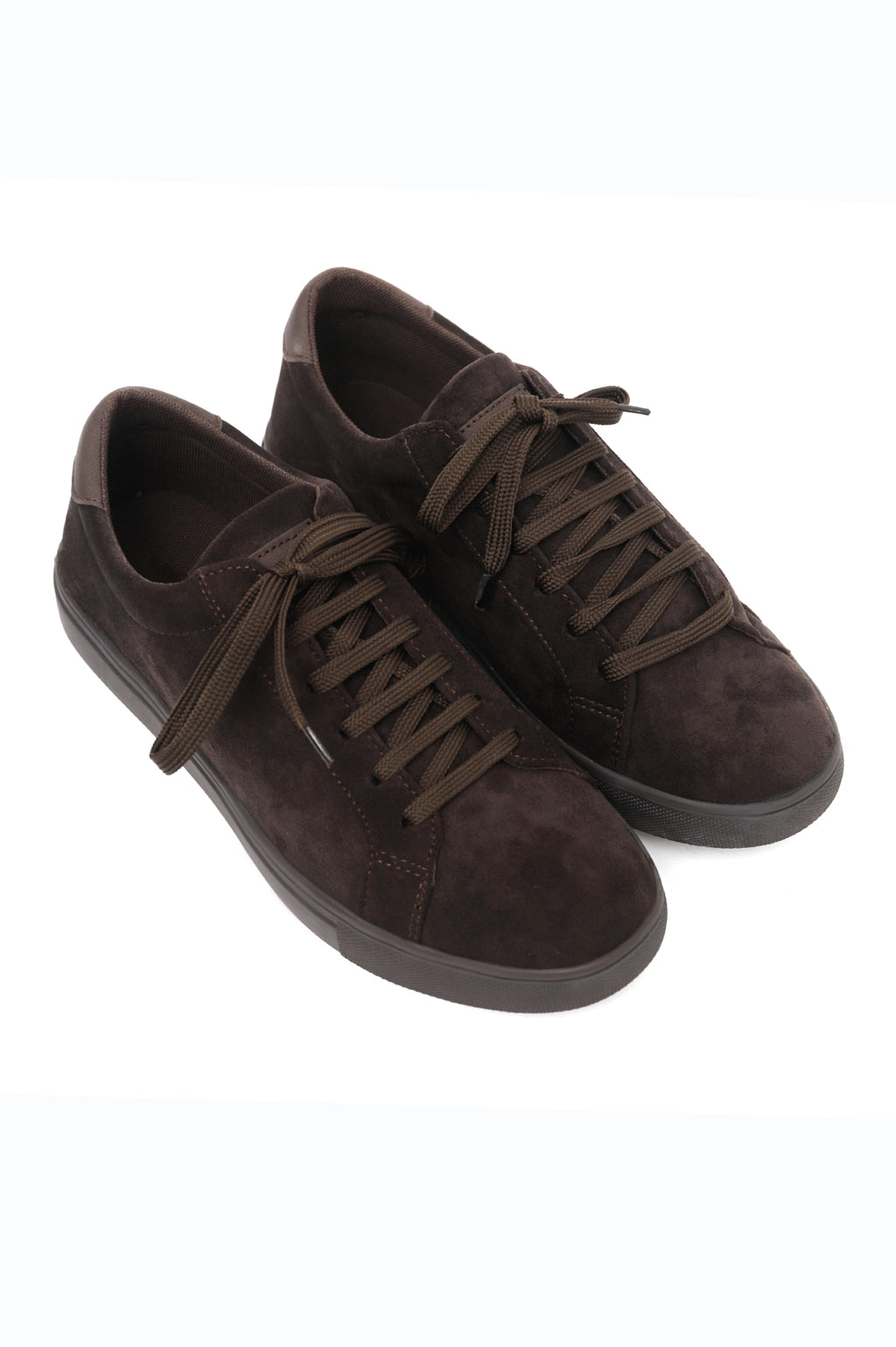 SUEDE LACE UPS-COFFEE