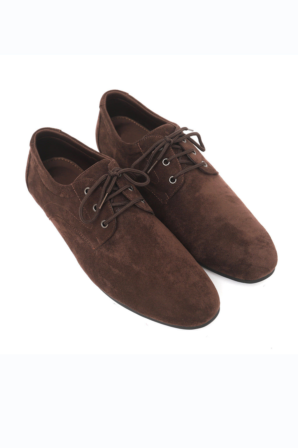 SUEDE DERBY SHOES-COFFEE