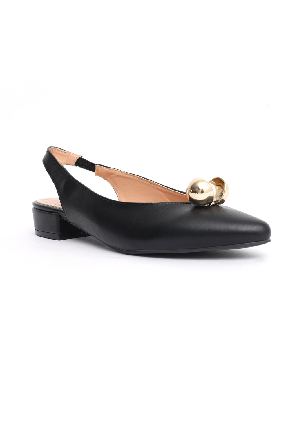 OYSTER SLINGBACKS -BLACK