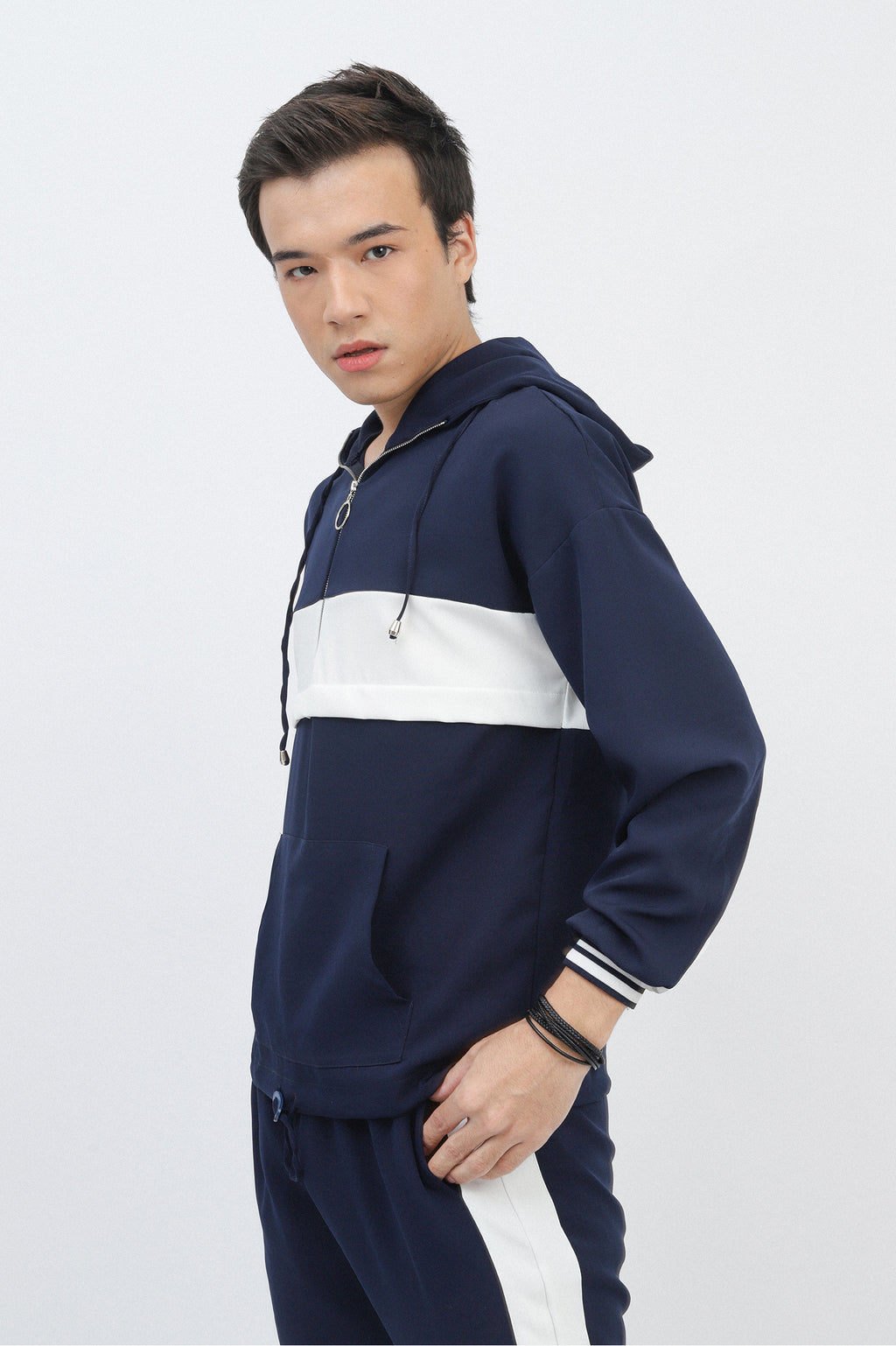 STRIPPED TRACKSUIT-NAVY-WHITE