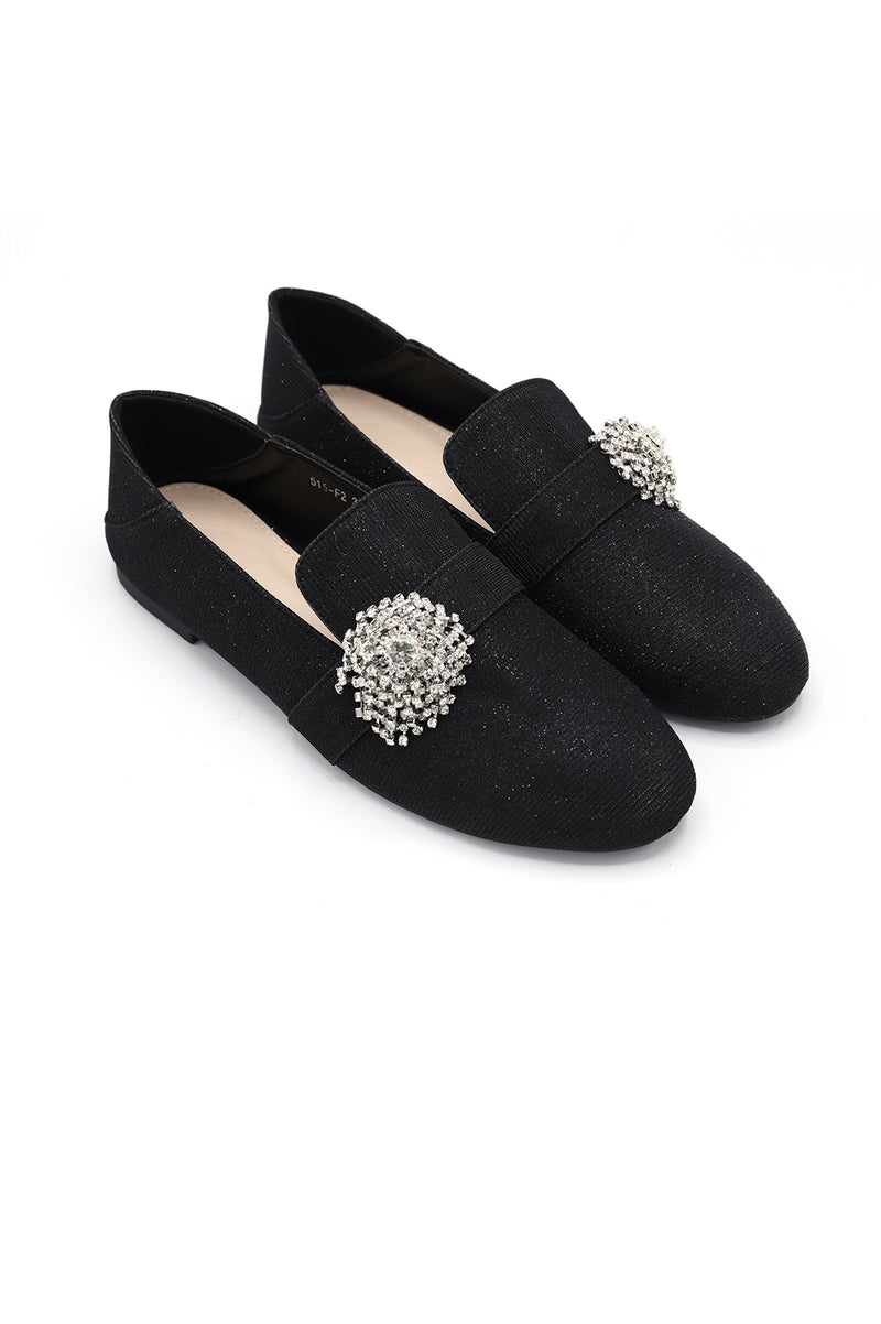 BLING IT' LOAFERS-BLACK