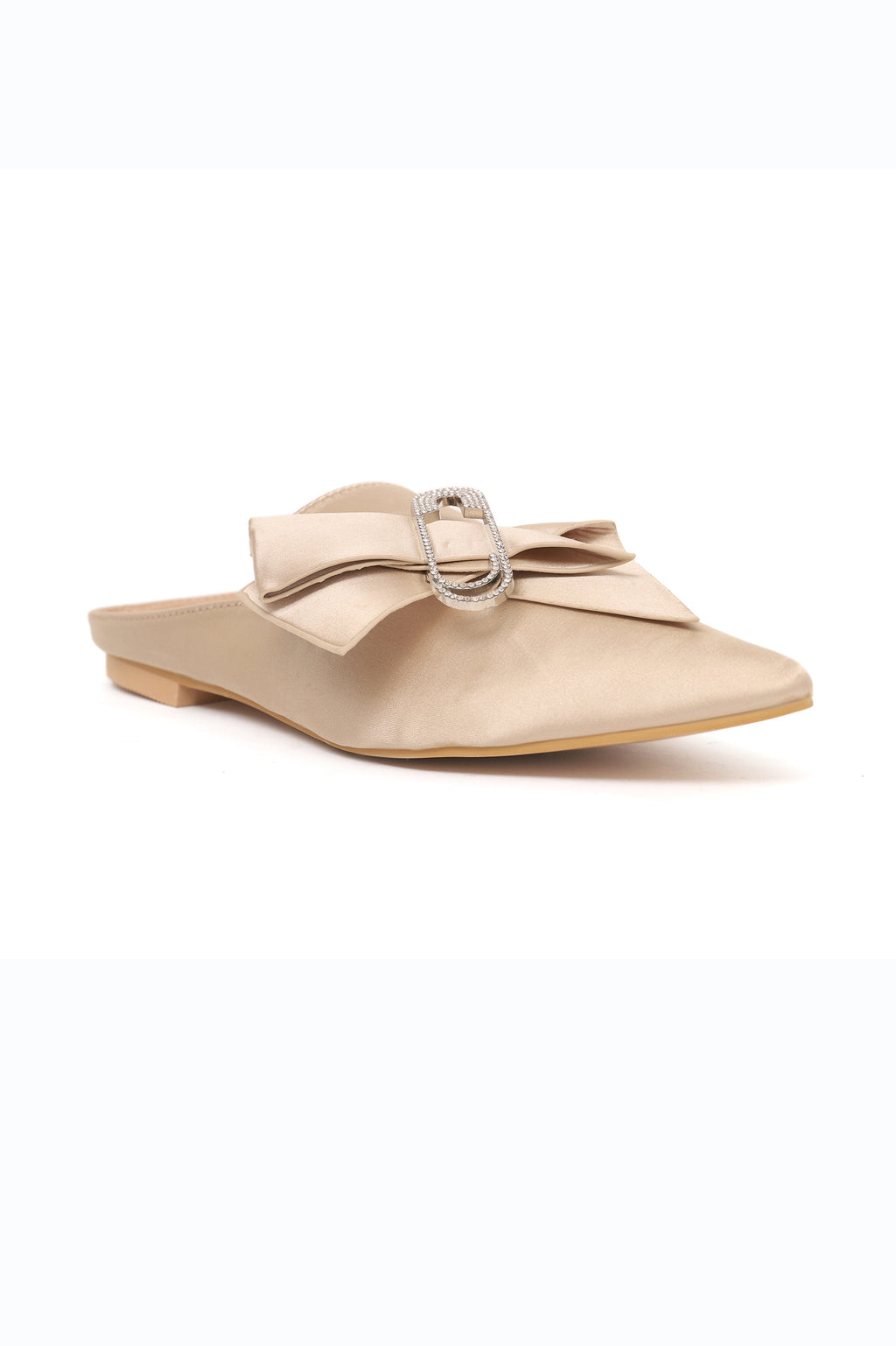 BLING BOW MULES-BEIGE