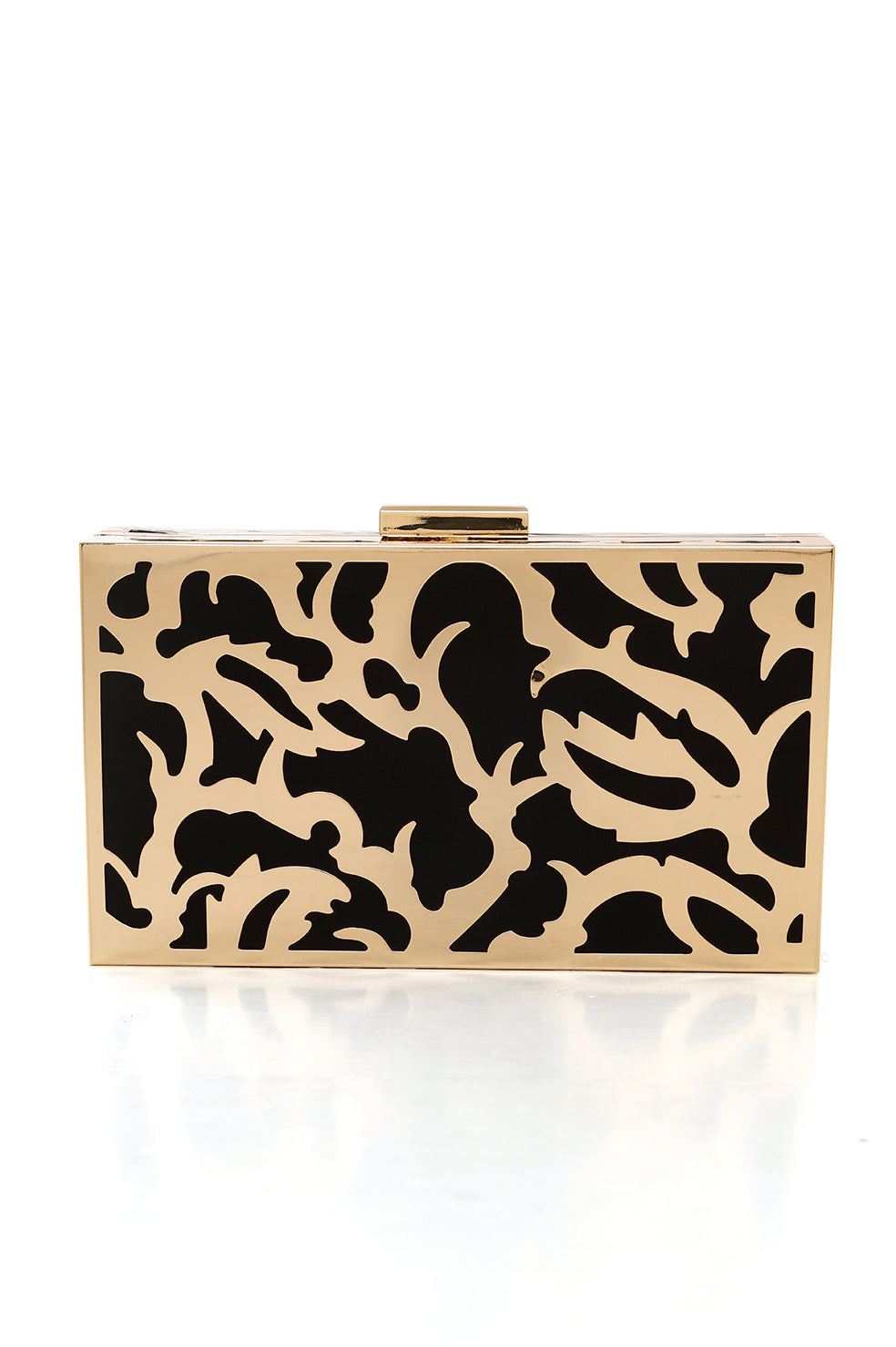 ABSTRACT FRAME CLUTCH-BLACK