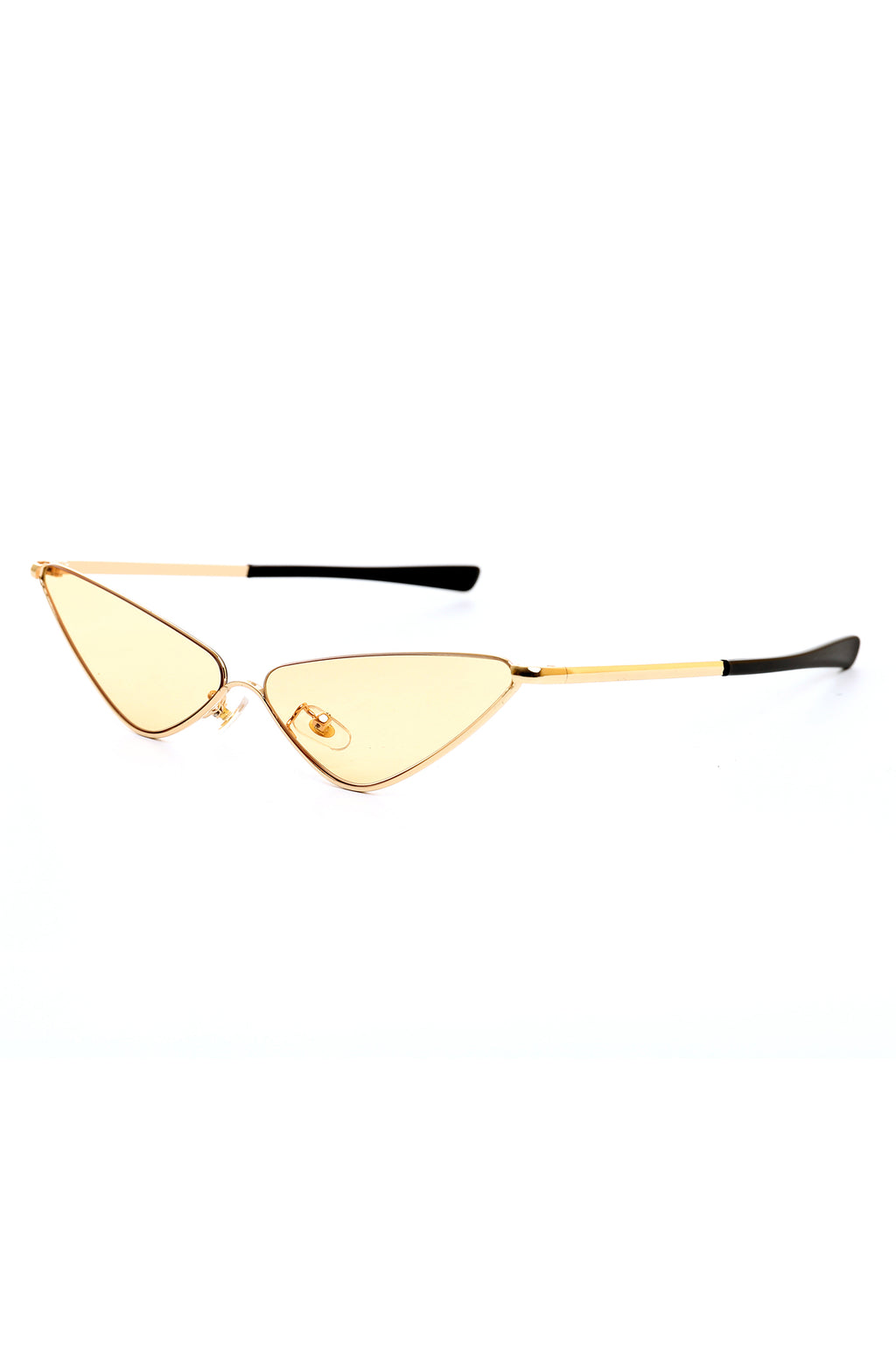 CAT EYE GLASSES-YELLOW